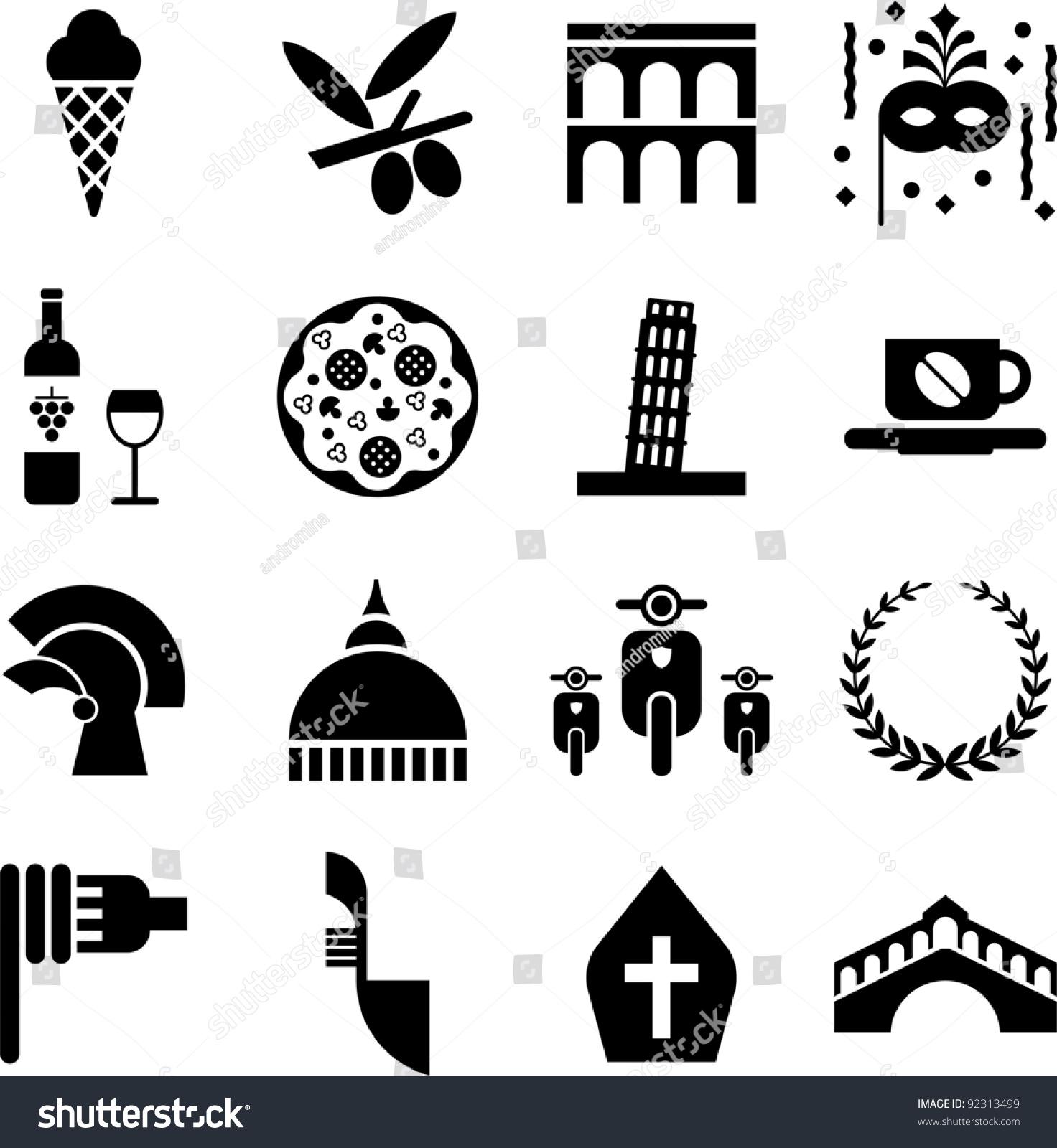 Italian Icons Symbols
