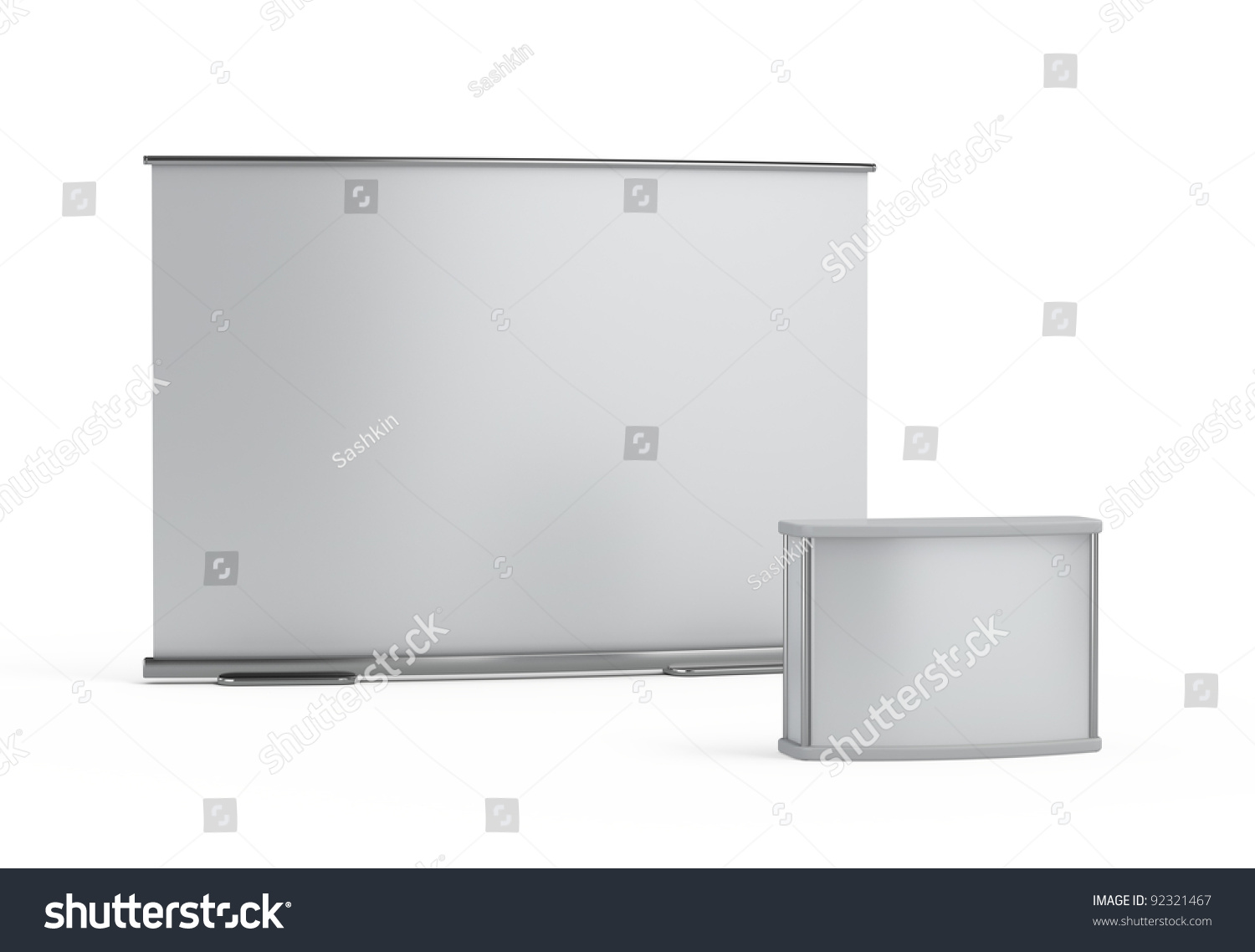 Exhibition Booth Blank : Blank trade show booth template stock illustration