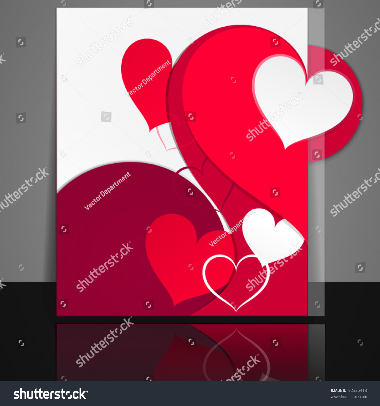 Valentines Day Flyer Design Stock Vector Royalty Free 92325418