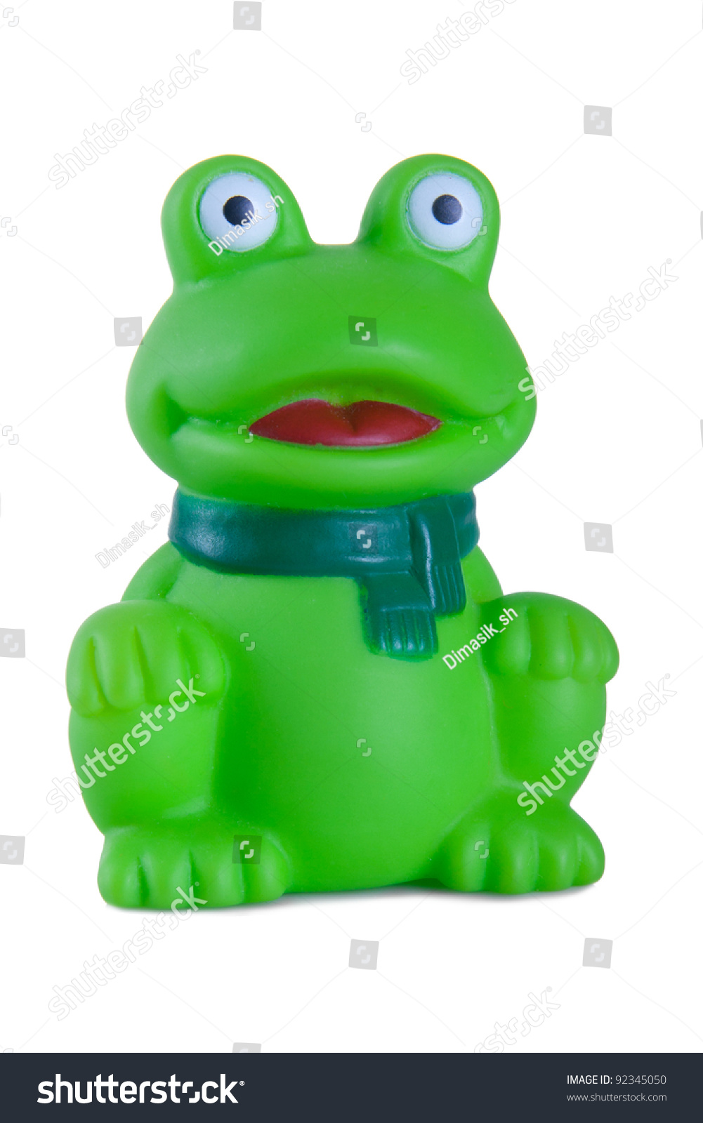 Rubber Bath Toys Green Frog Stock Photo (Edit Now) 92345050 ...