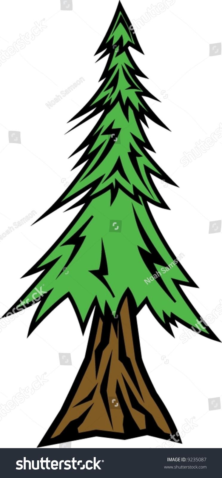 Sequoia Tree Clip Art sequoia stock vectors & vector clip art ...