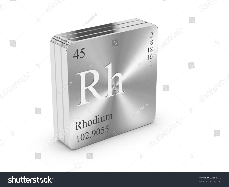 Rhodium element periodic table on metal stock illustration rhodium element of the periodic table on metal steel block gamestrikefo Image collections