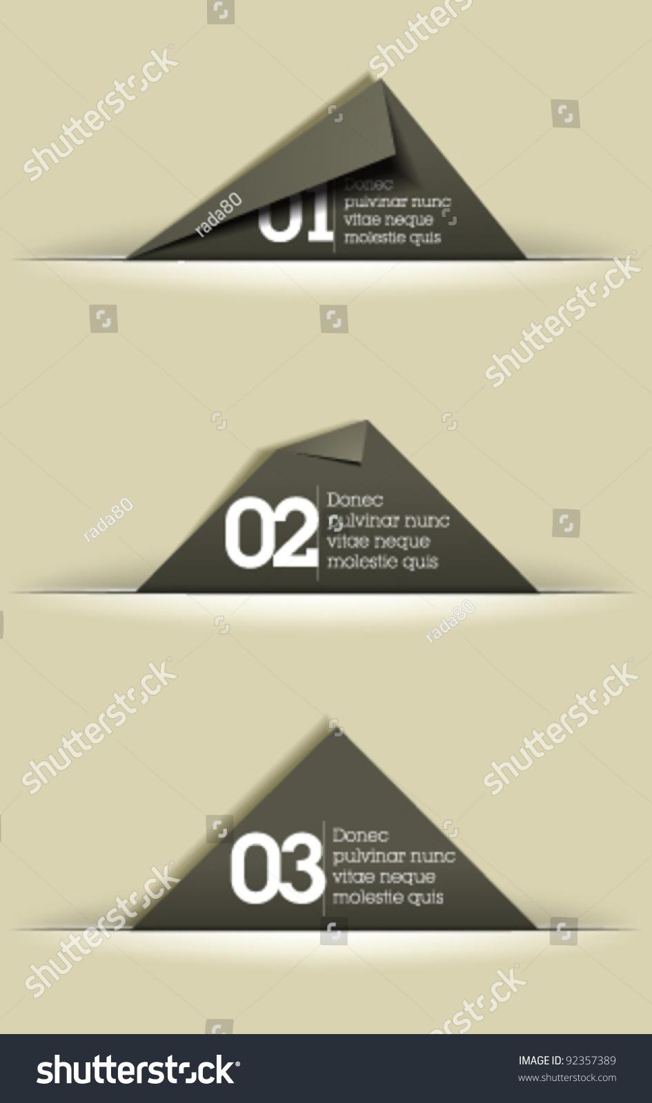 website graphic design memory cards cut stock vector 92357389