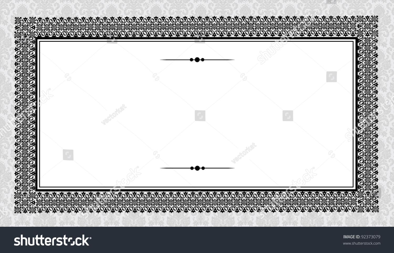 Vector Heavy Frame Victorian Background Easy Stock Vector (2018 ...