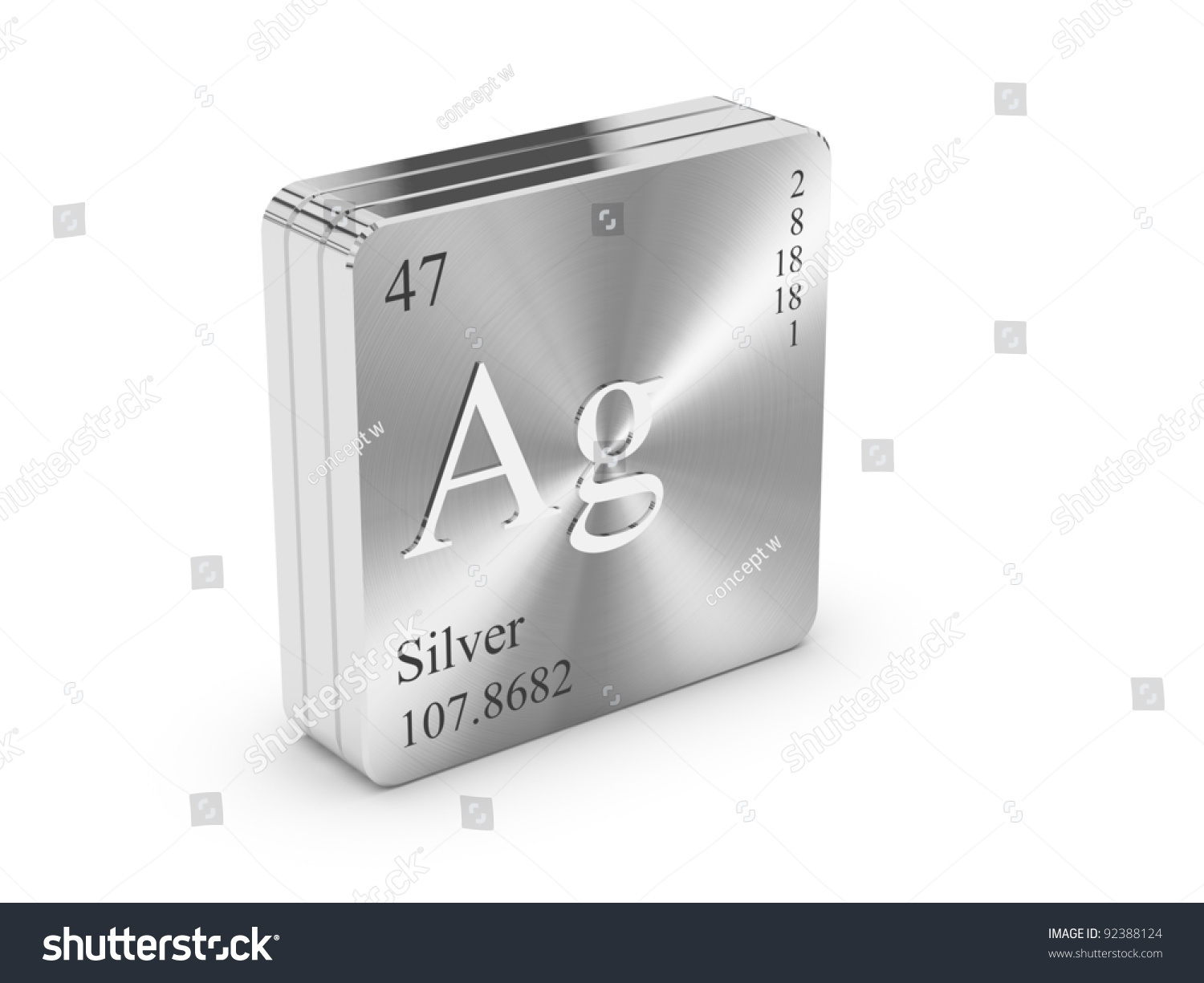 Silver element periodic table on metal stock illustration 92388124 silver element of the periodic table on metal steel block gamestrikefo Image collections