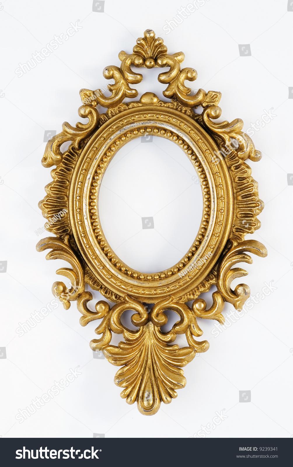 Gold Ornate Oval Frame Stock Photo (Royalty Free) 9239341 - Shutterstock