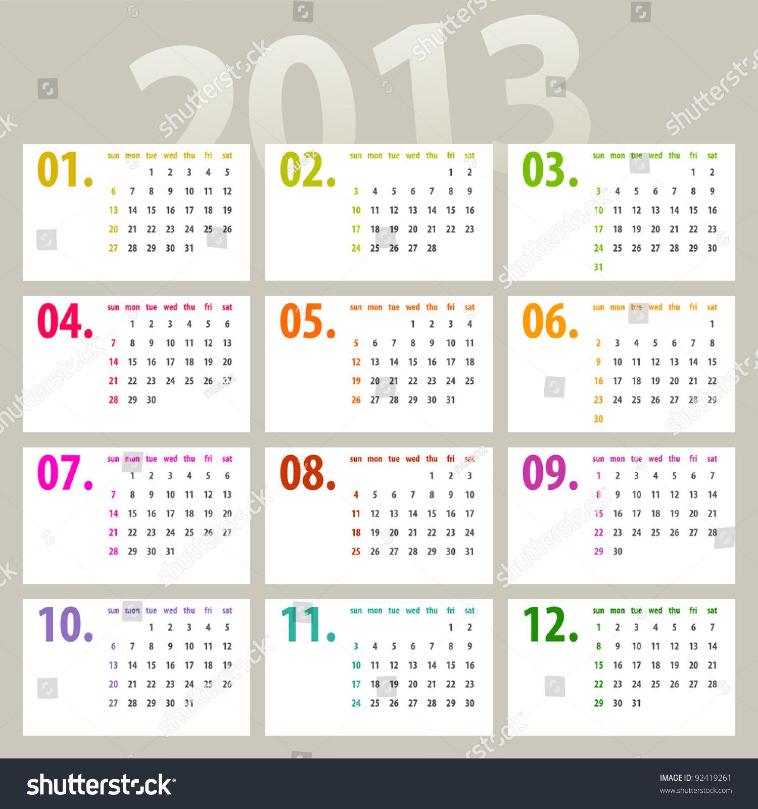 Minimalistic Calendar Design : Minimalistic calendar design week starts with