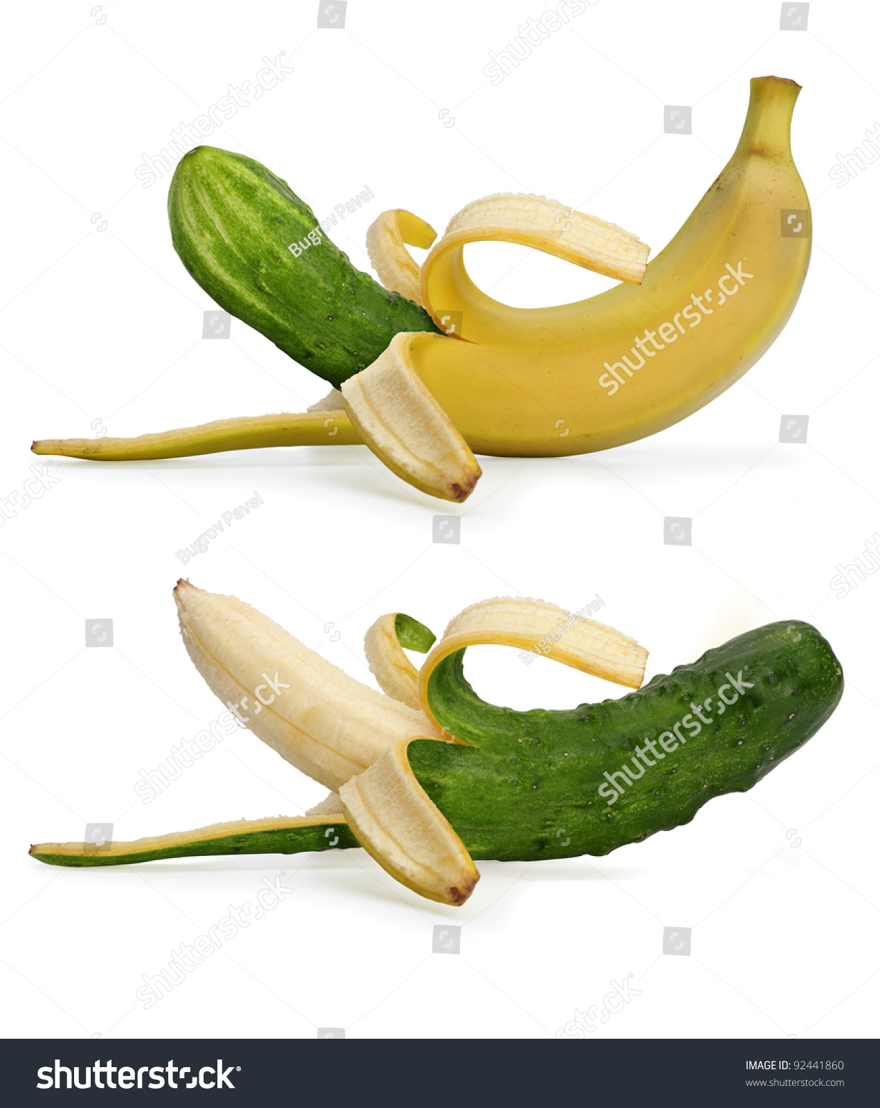 The cucumber the banana or maybe his dick 9