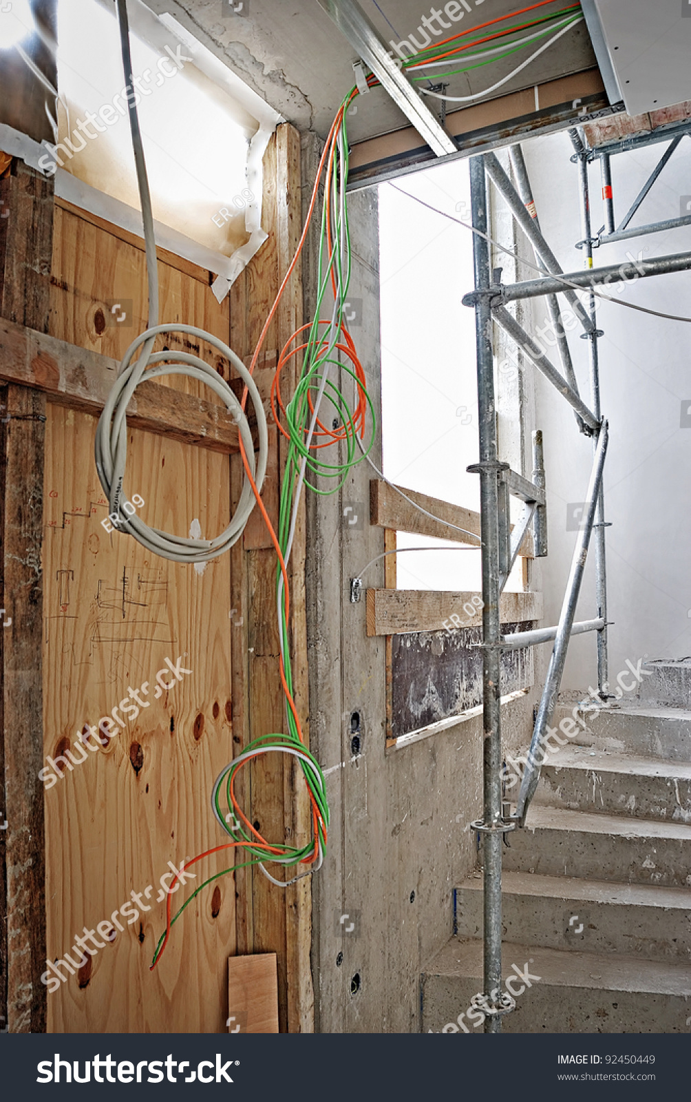 Interior construction building site and electrical for Interior site