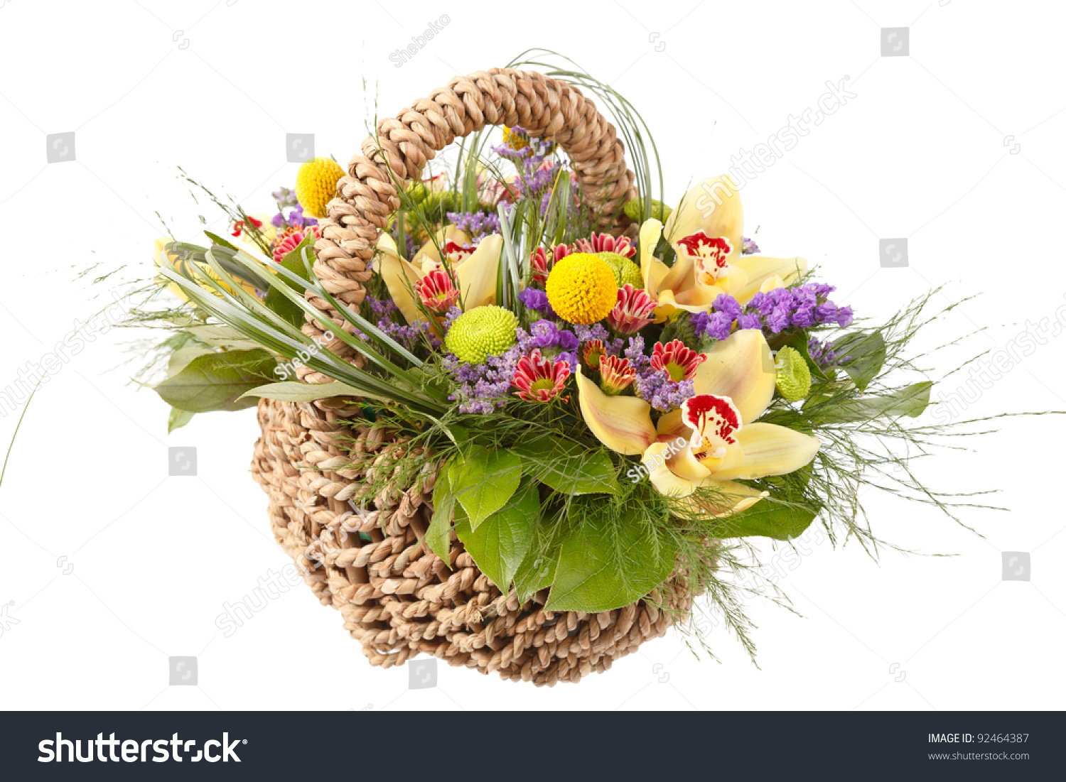 Beautiful Flowers Basket Stock Photo Edit Now 92464387 Shutterstock
