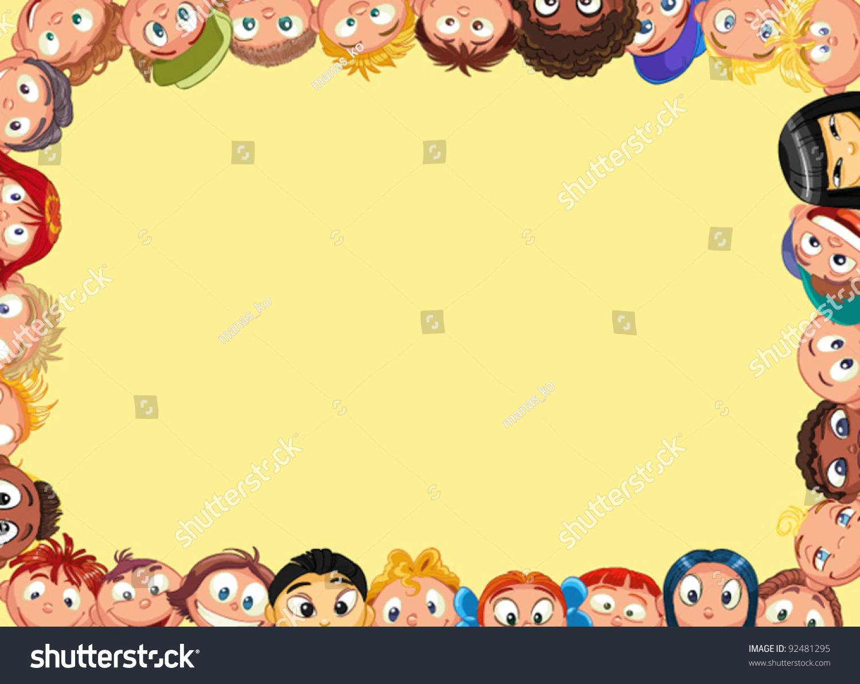 Frame Children Stock-Vektorgrafik (Lizenzfrei) 92481295 – Shutterstock