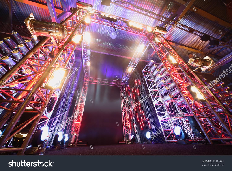 Illuminated Way Boxing Ring Inside Fight Stock Photo 92485180 Shutterstock