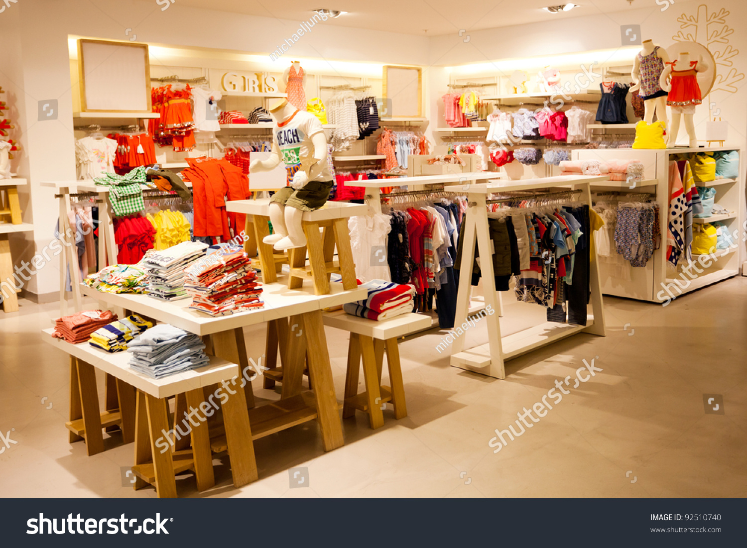 Awesome Interior View Of Childrenu0027s Clothing Store