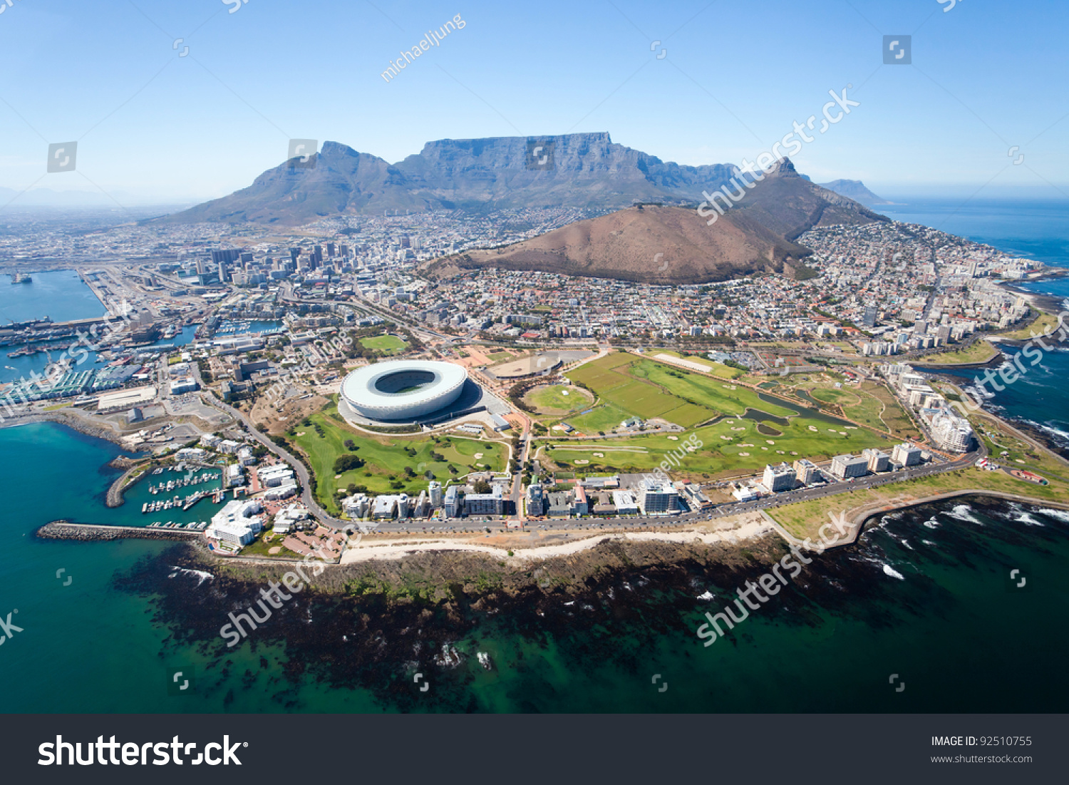 overall aerial view of Cape Town, South Africa #92510755