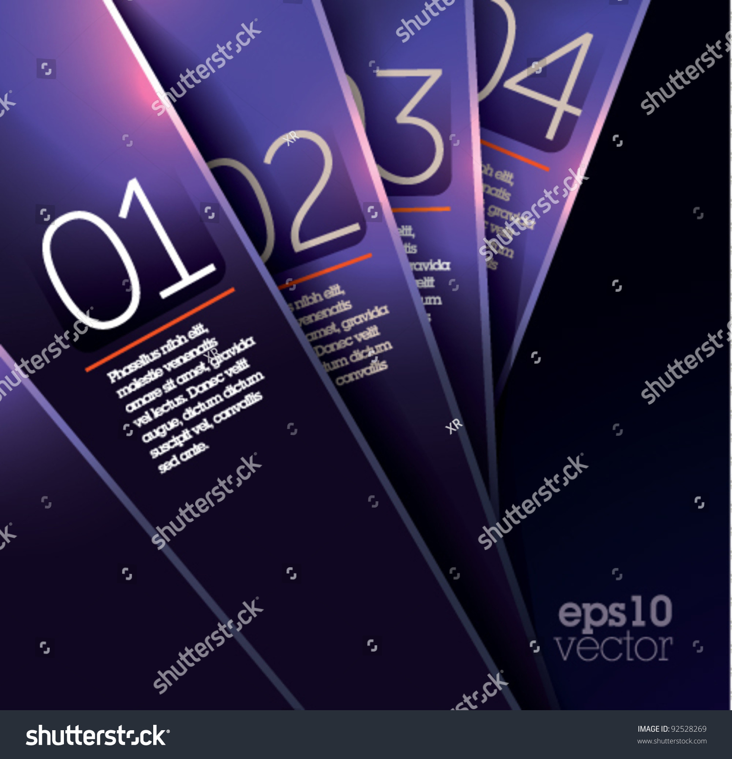Fold Over Name Plate Template Stock Vector Design Template Shiny Violet Plates Graphic