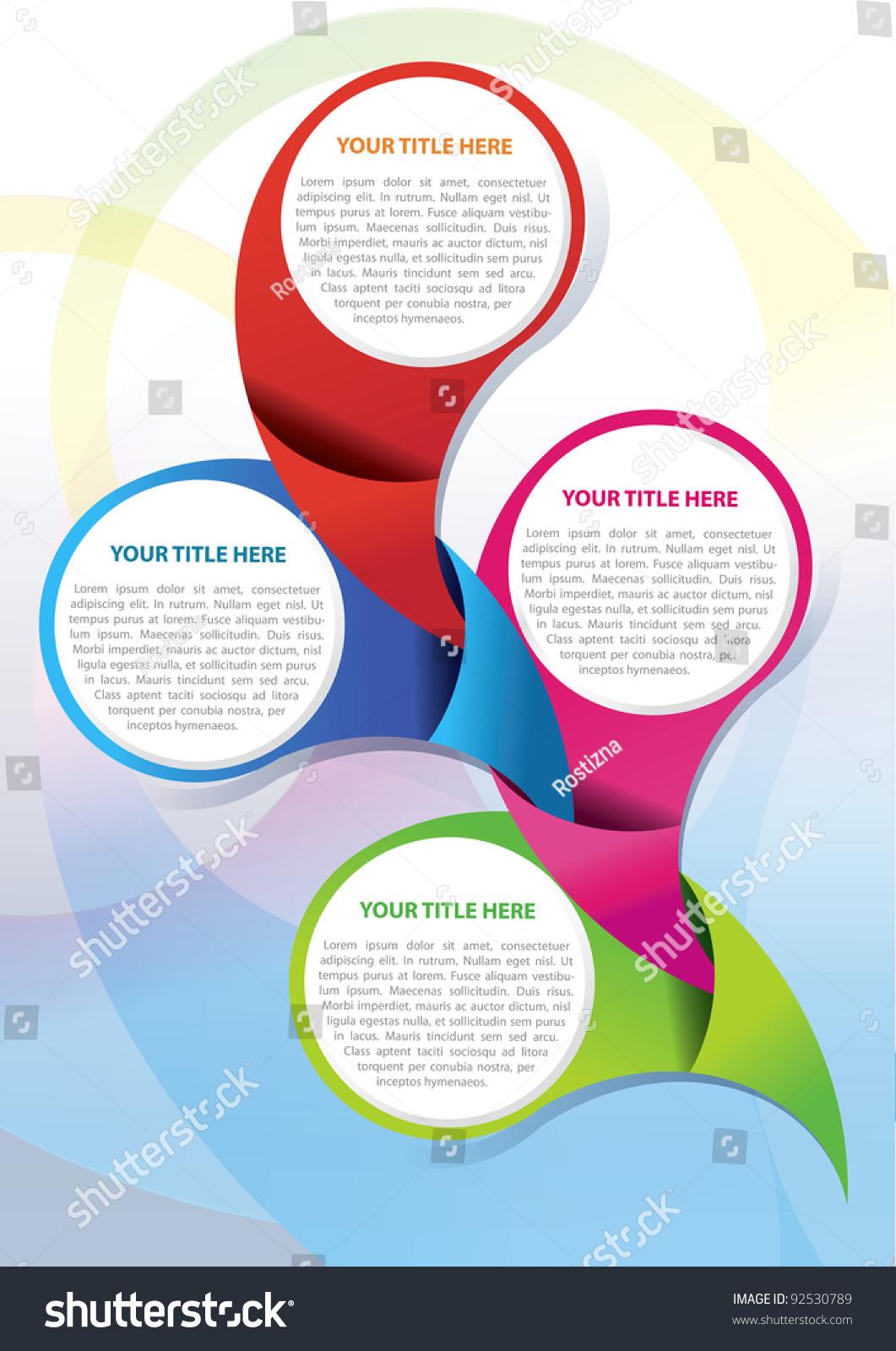 Vector Brochure Page Design Concept Four Stock Vector 92530789 ...