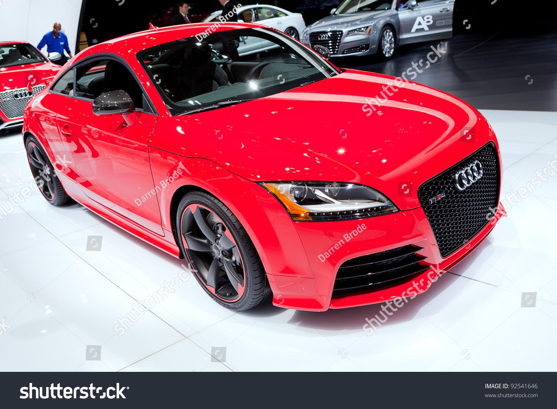 DETROIT JANUARY Audi TT RS Stock Photo Edit Now - Audi detroit