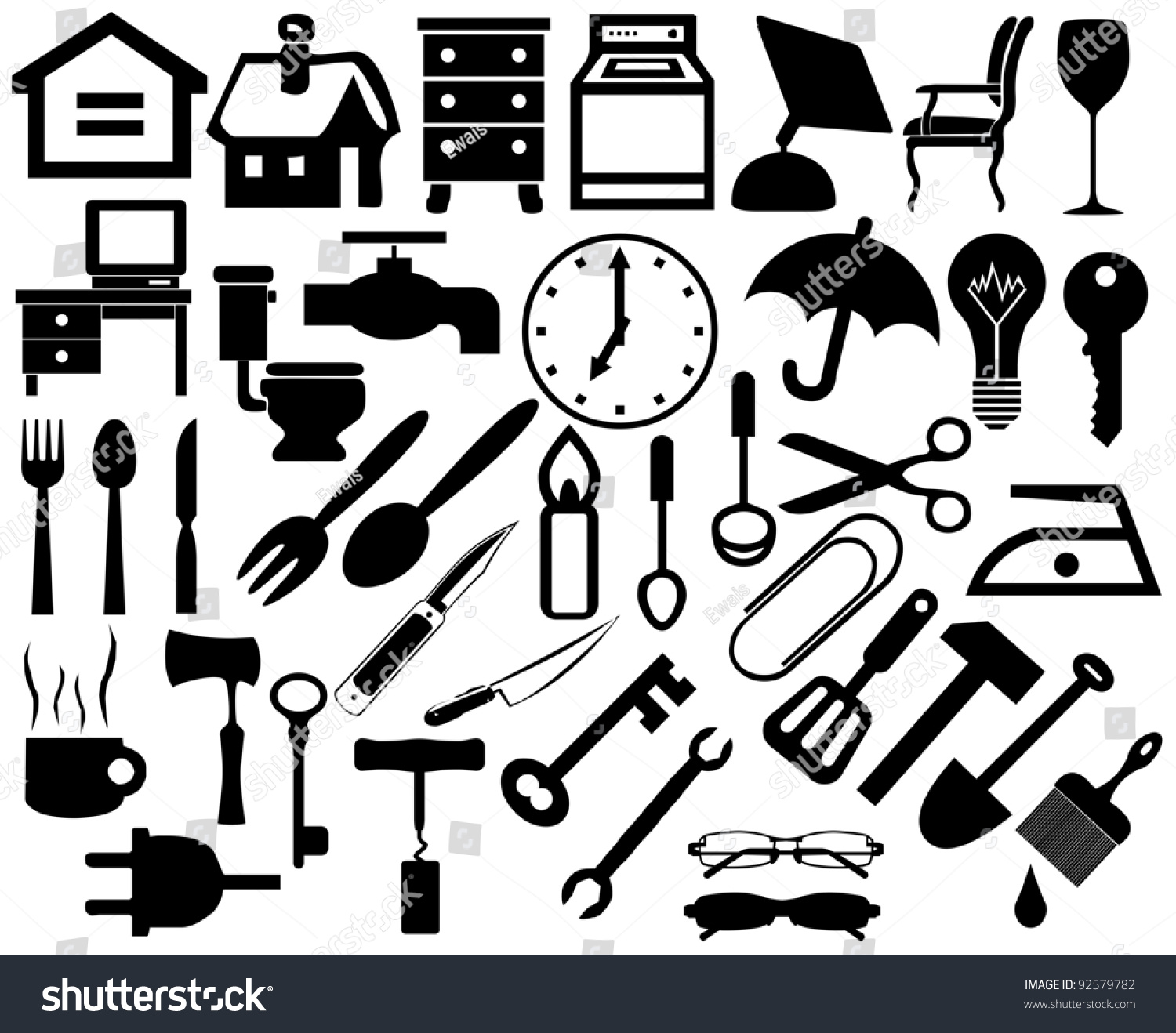 Collection Of Household Home Appliances Icons Furniture Icons