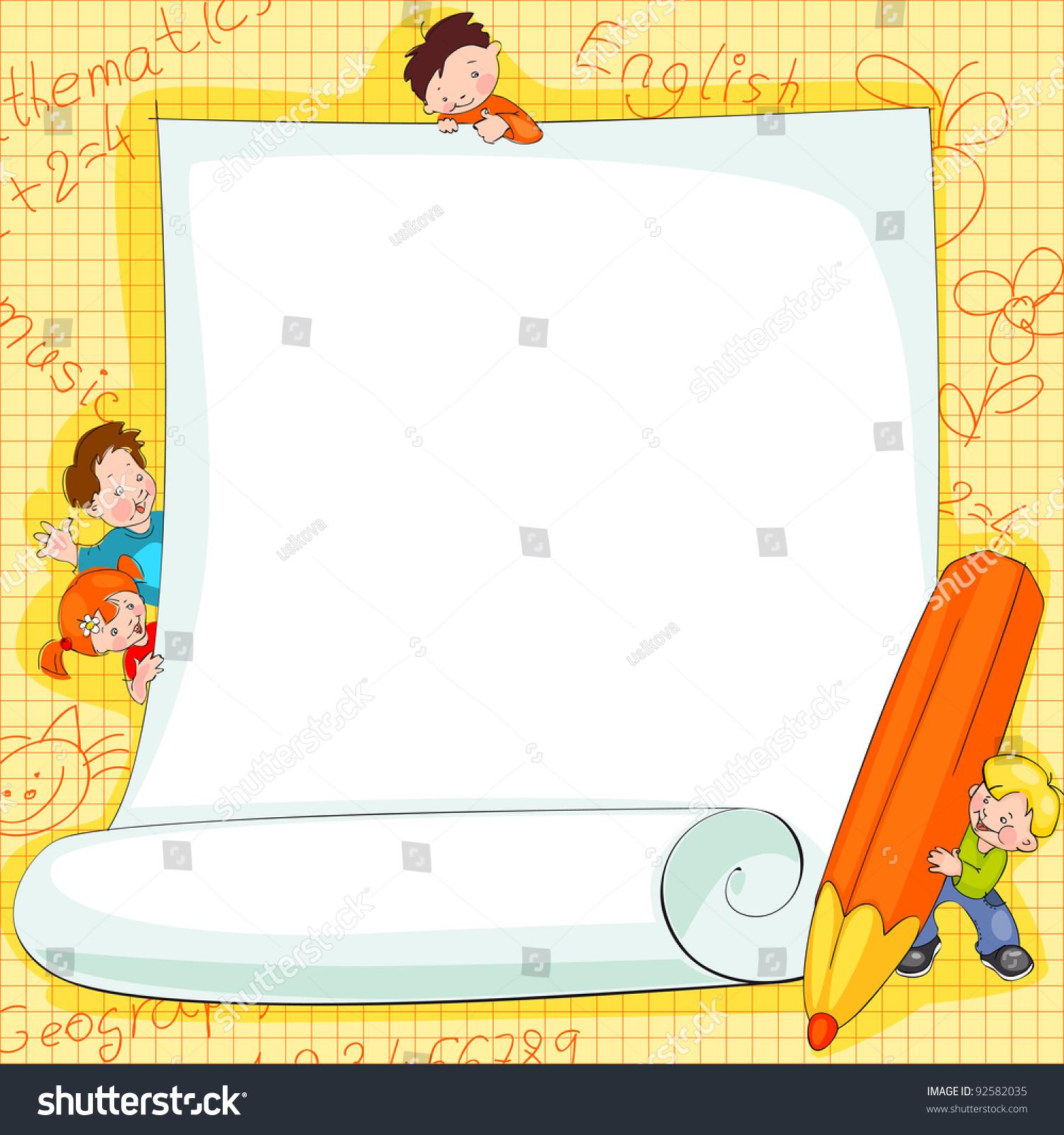 School kids background vector
