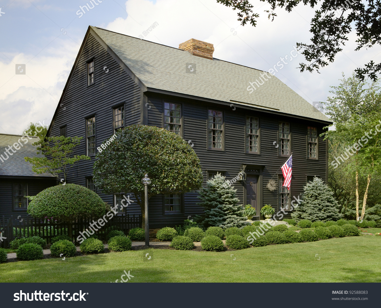 A staircase in an authentic colonial style reproduction for Reproduction homes