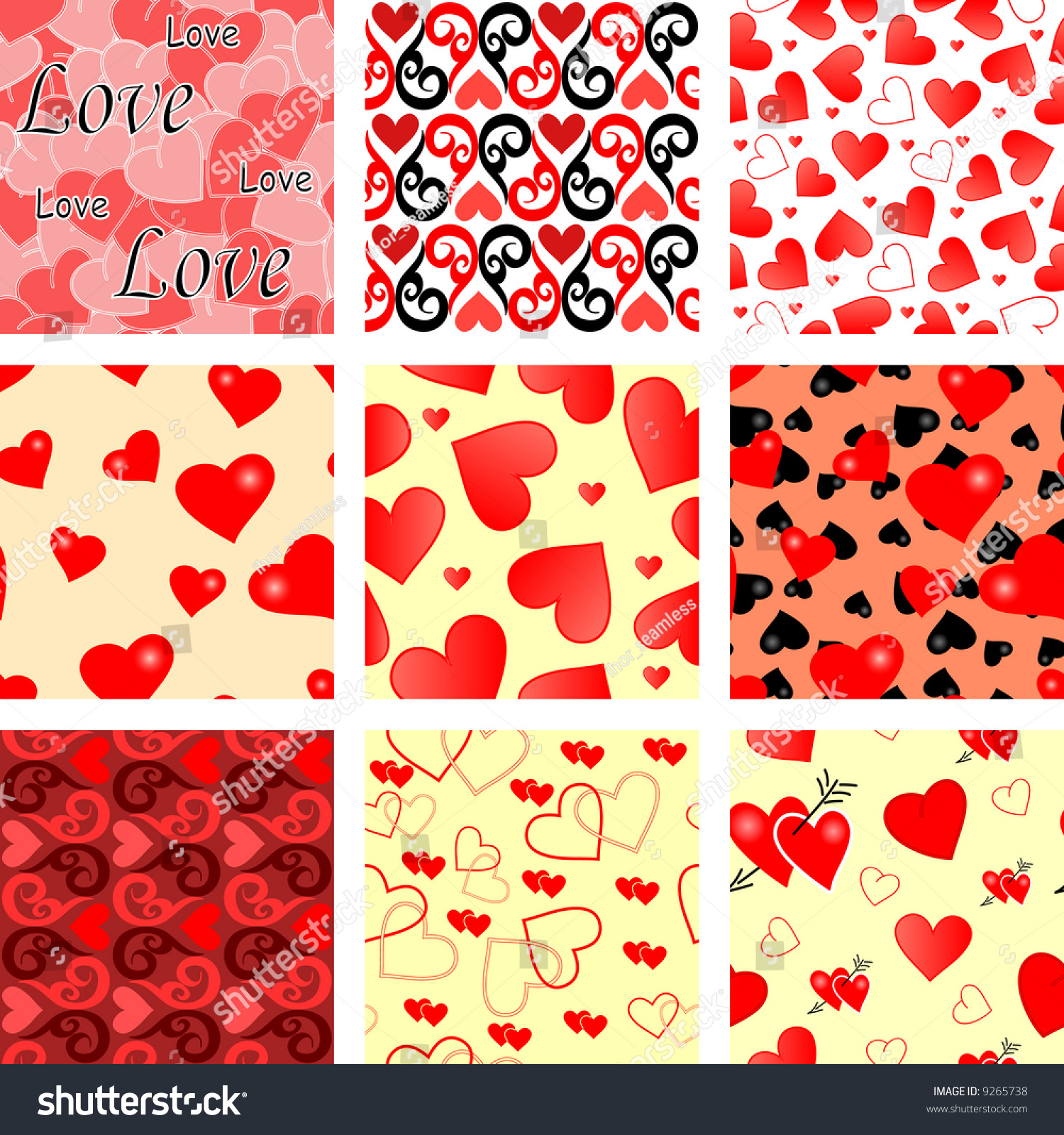 Collection Of Seamless Wallpaper Valentines With Hearts ...