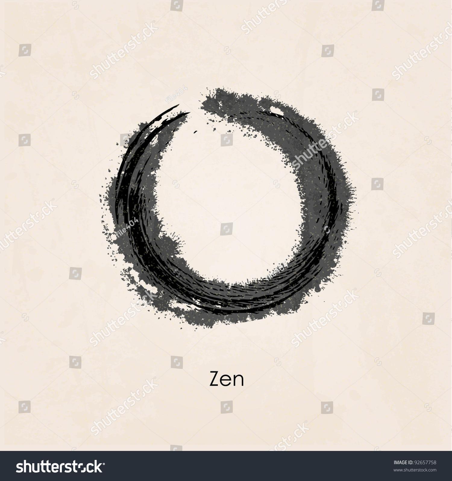 Zen Calligraphy Stock Vector Illustration 92657758