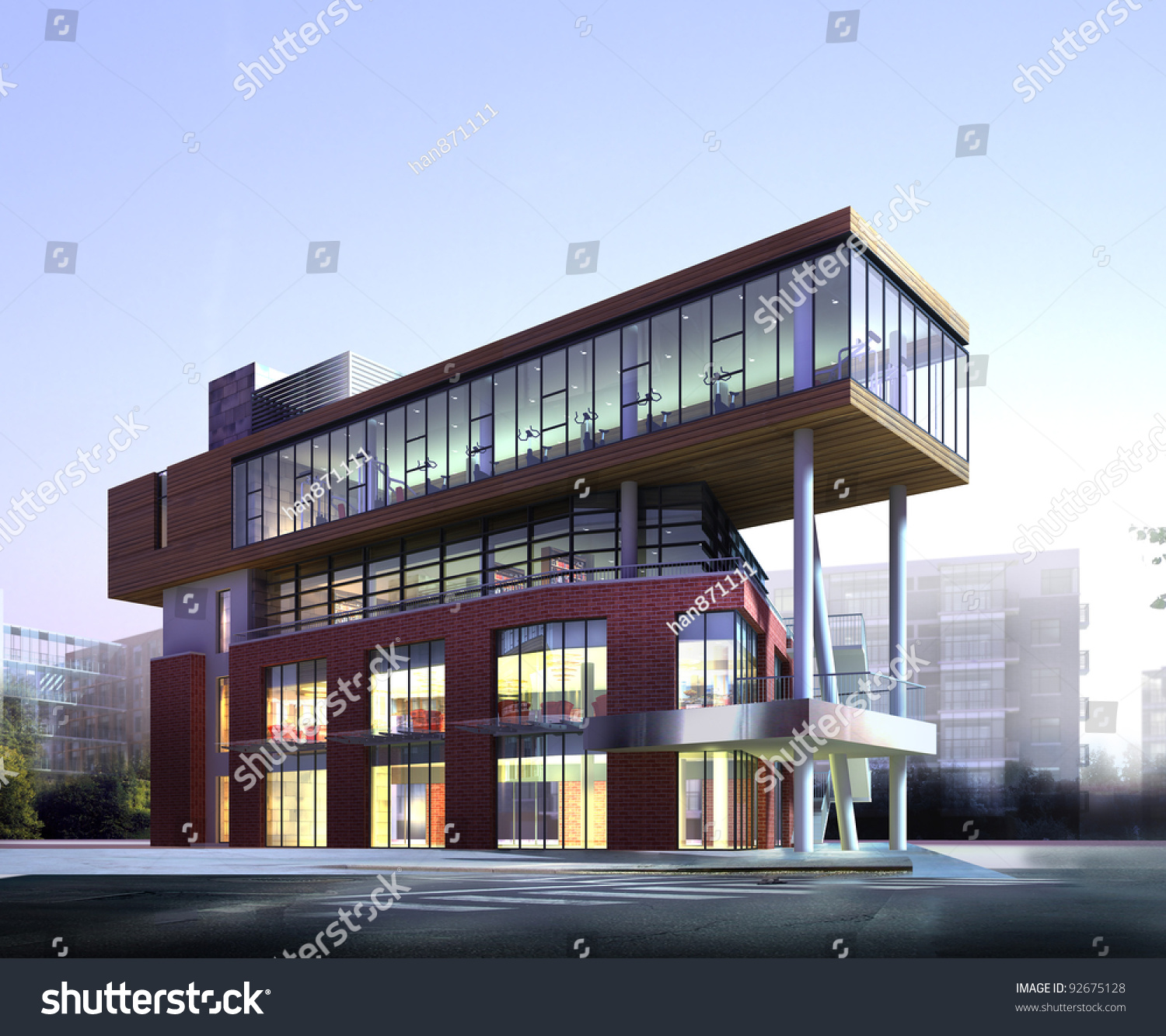 Image gallery modern commercial building for Modern commercial building exterior design