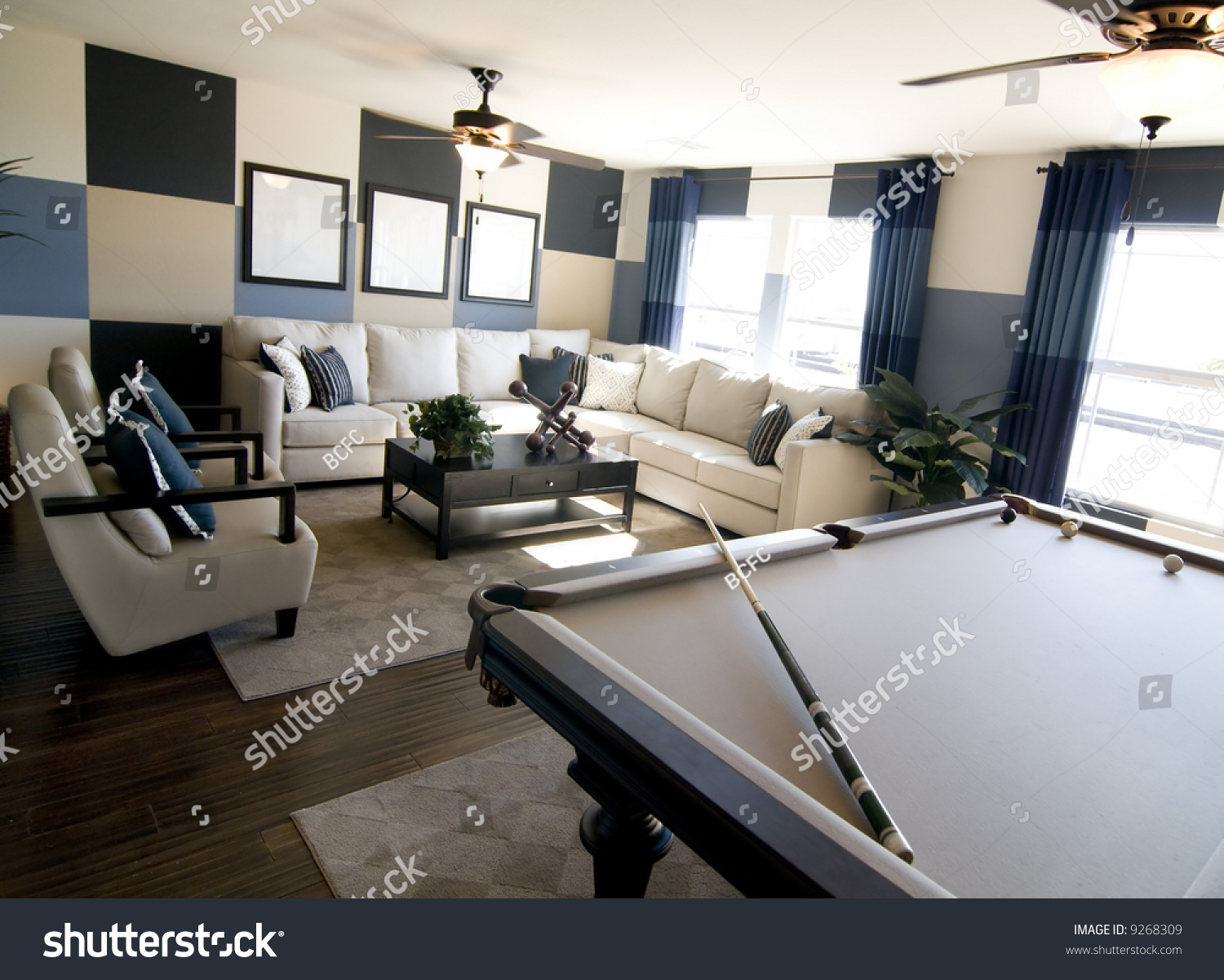 Stylish Modern Luxury Game Room Interior Stock Photo 9268309 Shutterstock
