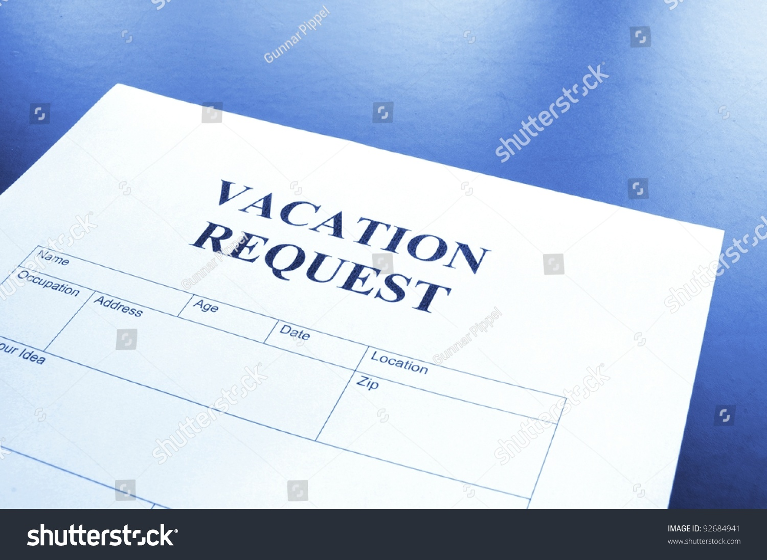 Vacation Request Form Business Office Showing Photo 92684941 – Vacation Request Form