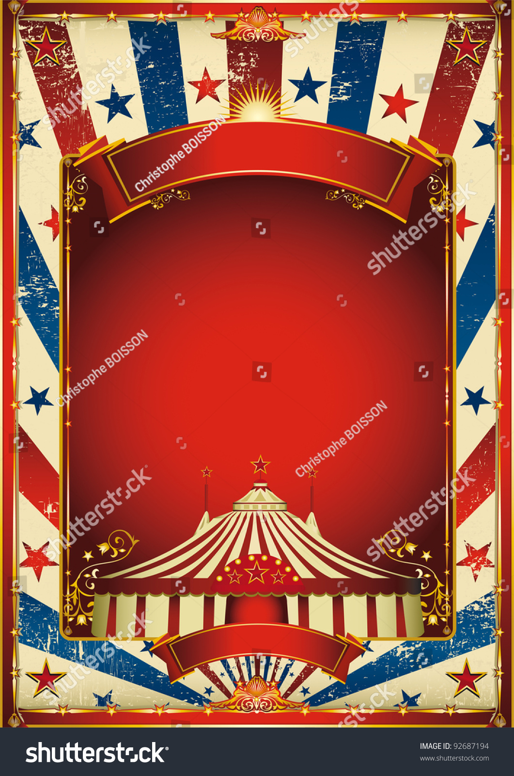 Nice vintage circus background big top stock vector for Circus posters free