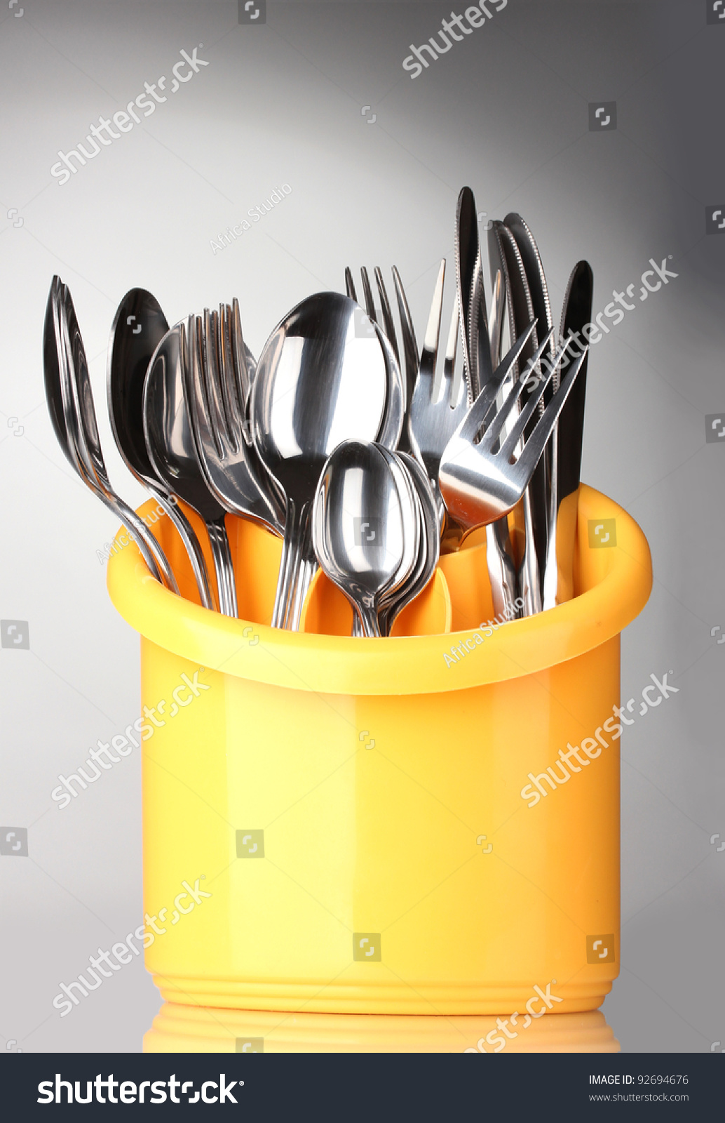 kitchen cutlery knives forks and spoons in yellow stand black and white clip art kitchen printable fork knife