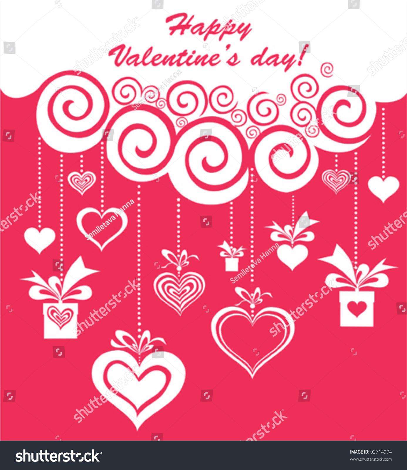 Valentines Day Card Design Celebration Background Vector – Valentines Day Card Design