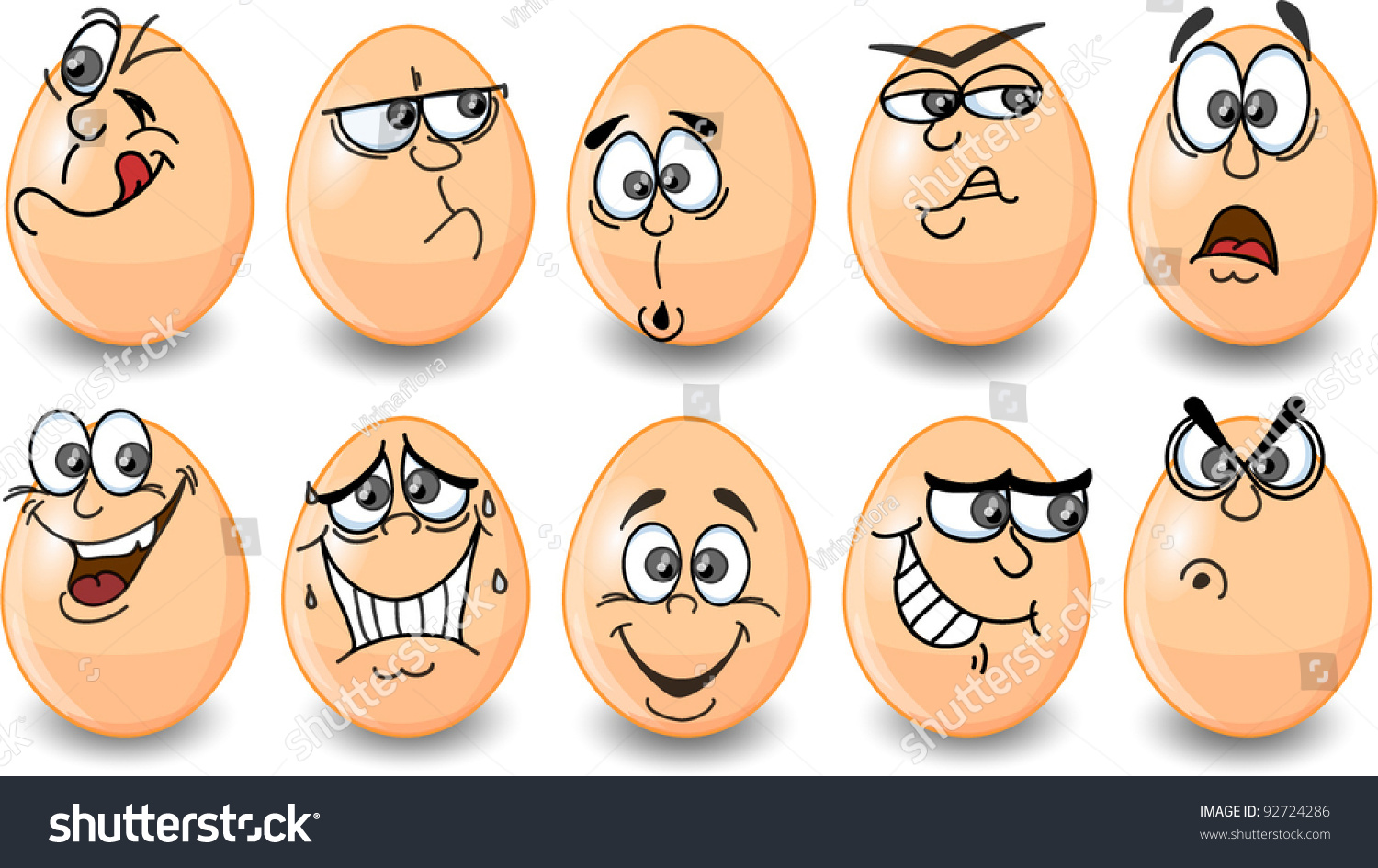 cartoon easter eggs happy easter stock vector 92724286 shutterstock