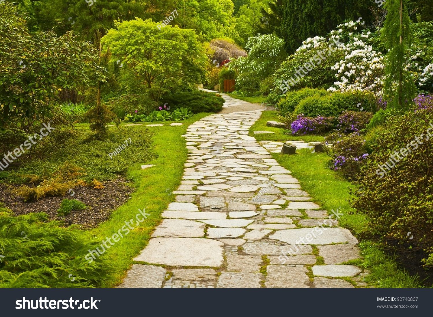 Path in japanese garden stock photo 92740867 shutterstock Pathway images