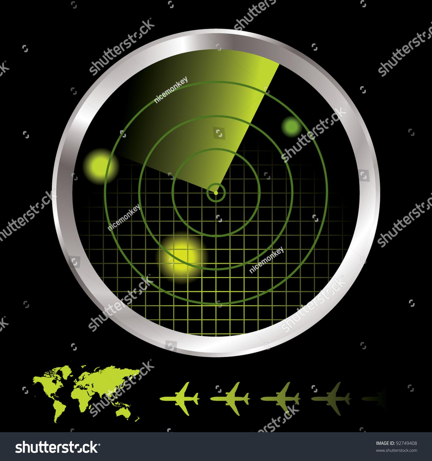 Airplane Radar Stock Photography - Image: 36961082