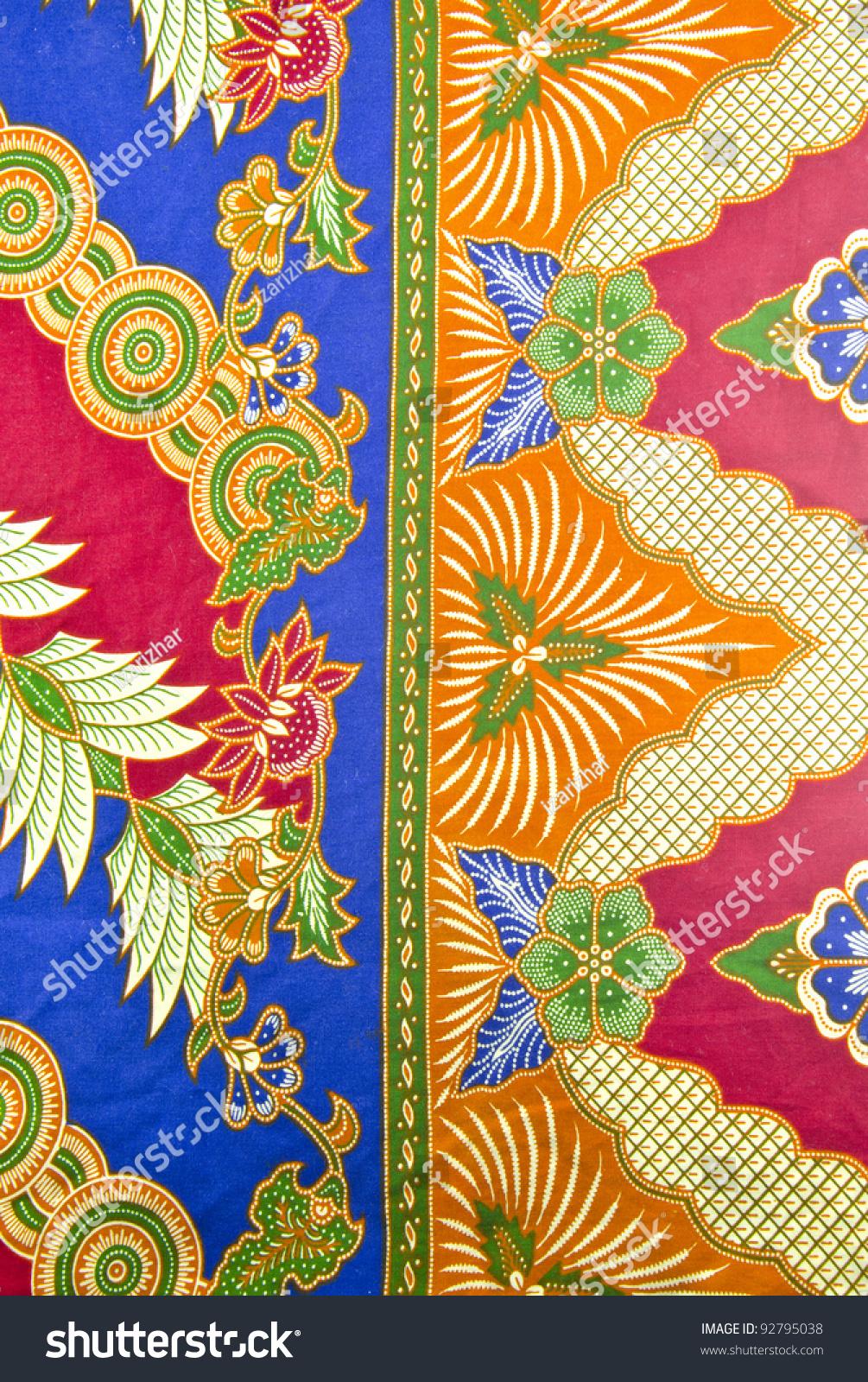 design malaysian batik traditional concept stock photo