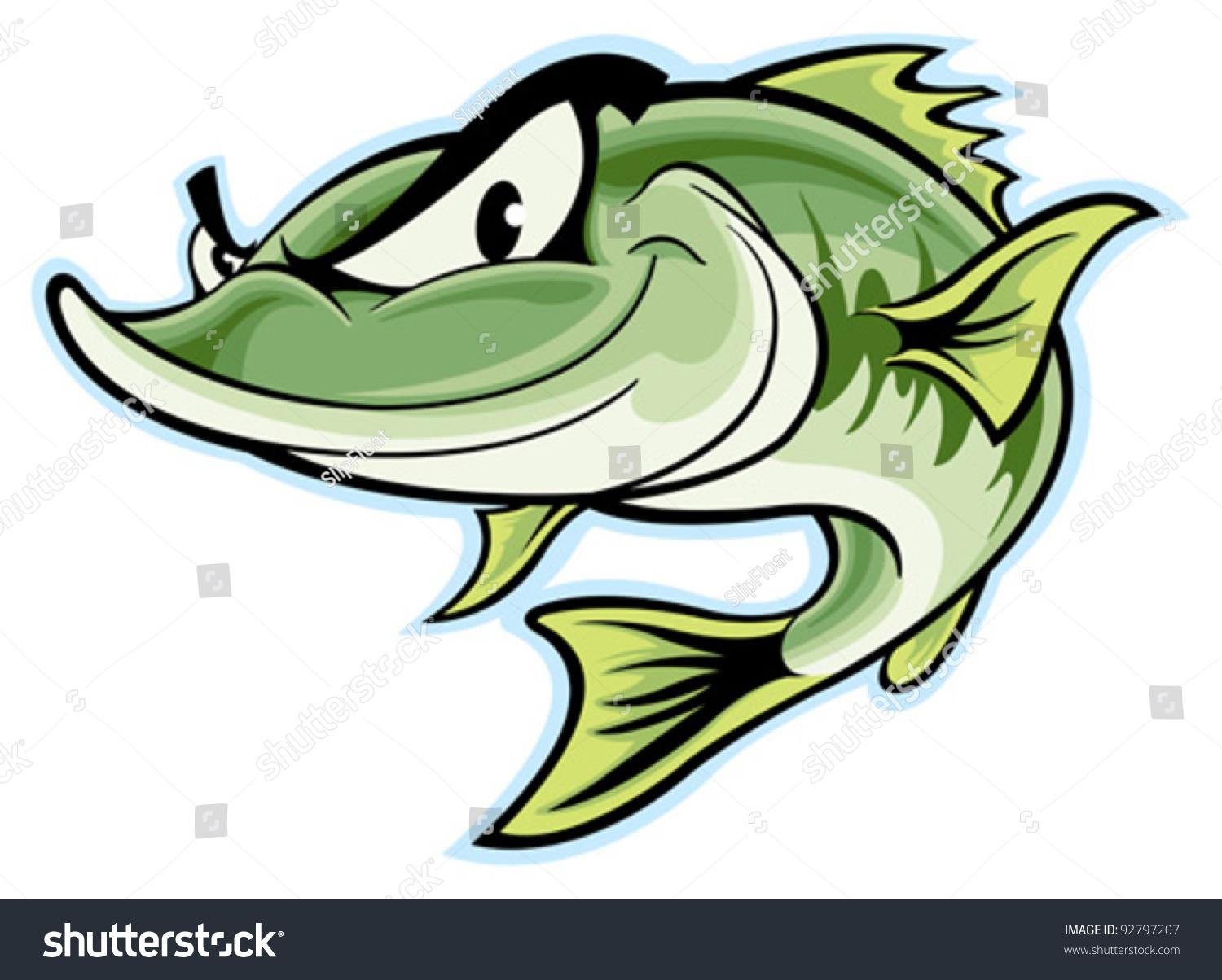 largemouth bass stock vector 92797207 shutterstock
