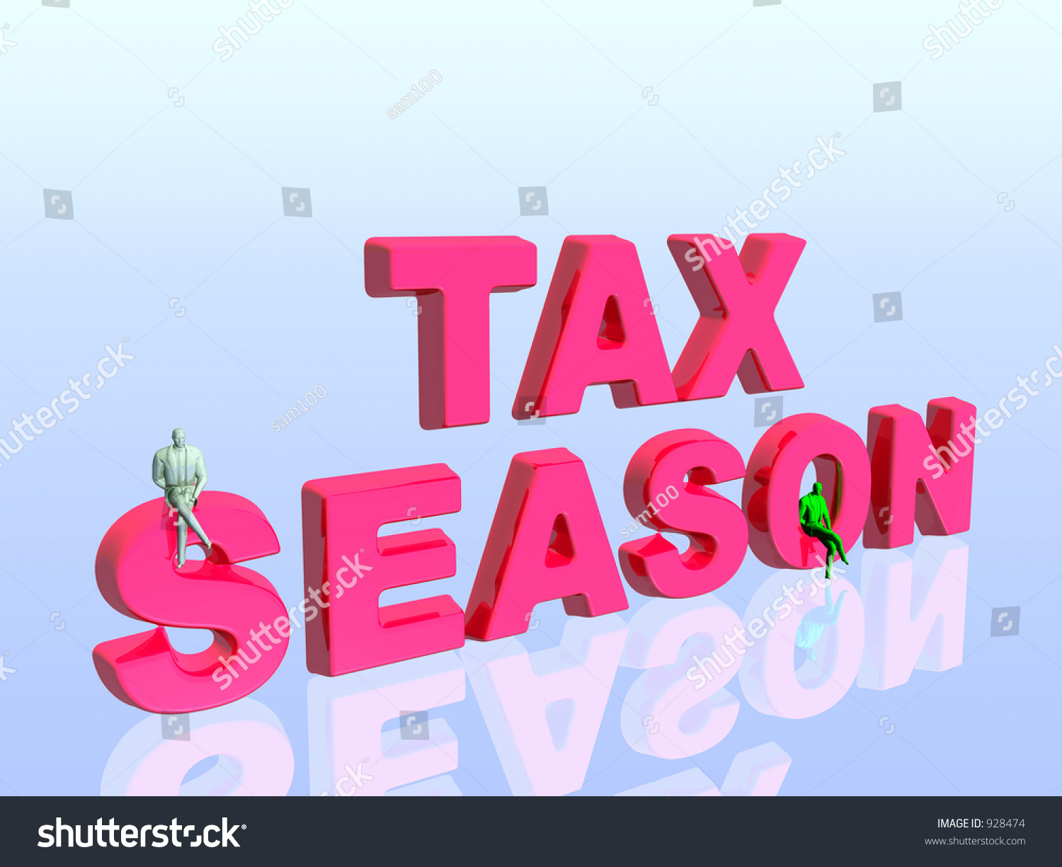 3d Illustration, Wallpaper, Background The Tax Season. Copy Space ...