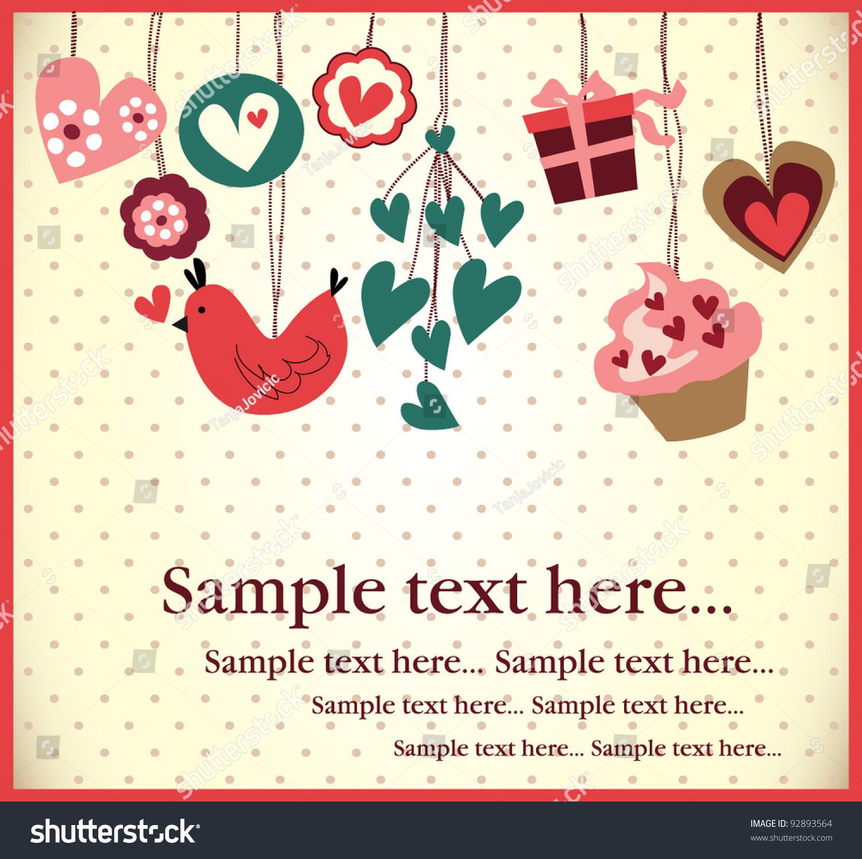 Birthday invitation card stock vector 92893564 shutterstock stopboris Gallery