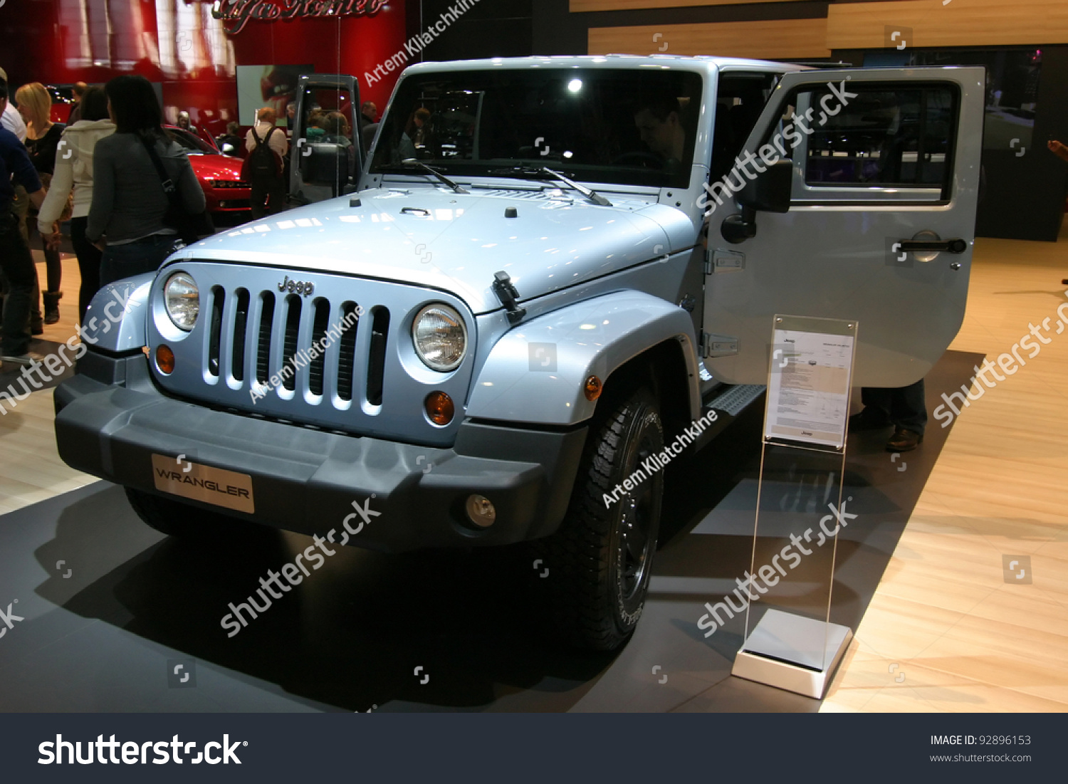 Brussels Belgium January 15 Jeep Wrangler Stock Photo Edit Now Expo Shown At Euro Motors 2012 Exhibition On