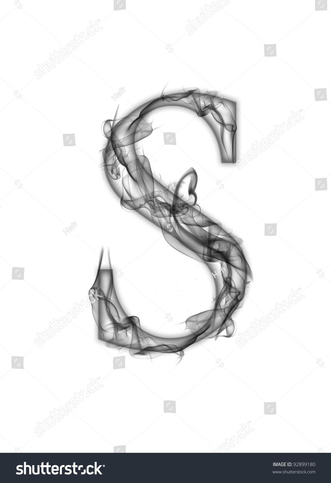 S Letter Of Smoke Alphabet Stock Photo 92899180 Shutterstock