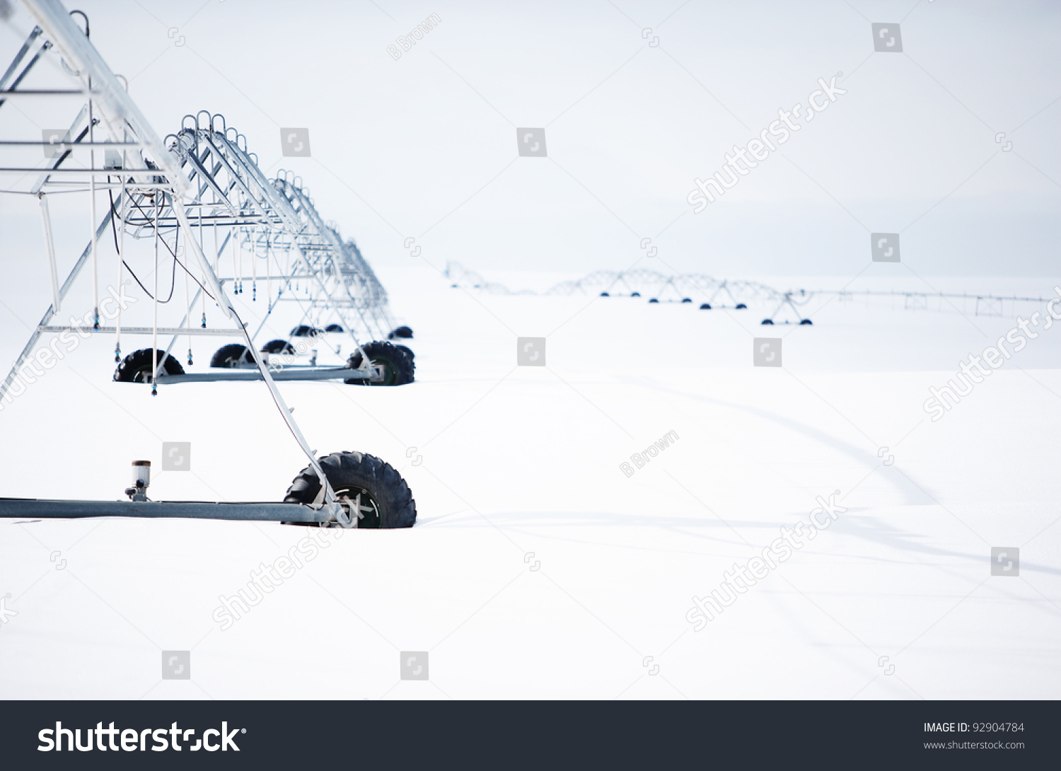 Center Pivot Sprinkler System Snow Stock Photo Edit Now 92904784 Irrigation Wiring Diagrams A In The