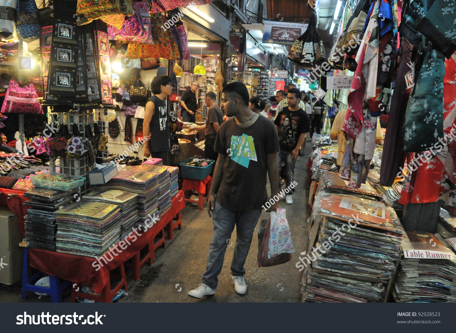 Bangkok Sept 11 Unidentified Tourists Shop Stock Photo
