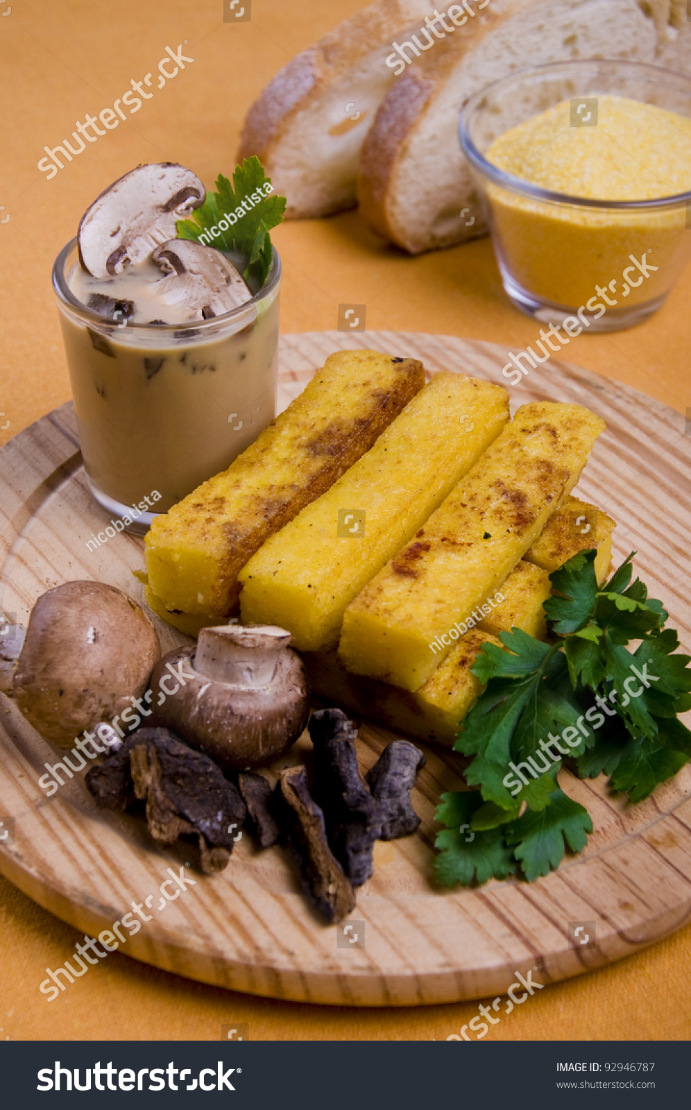Grilled Polenta Fingers With Mushrooms And Mushroom Sauce ...