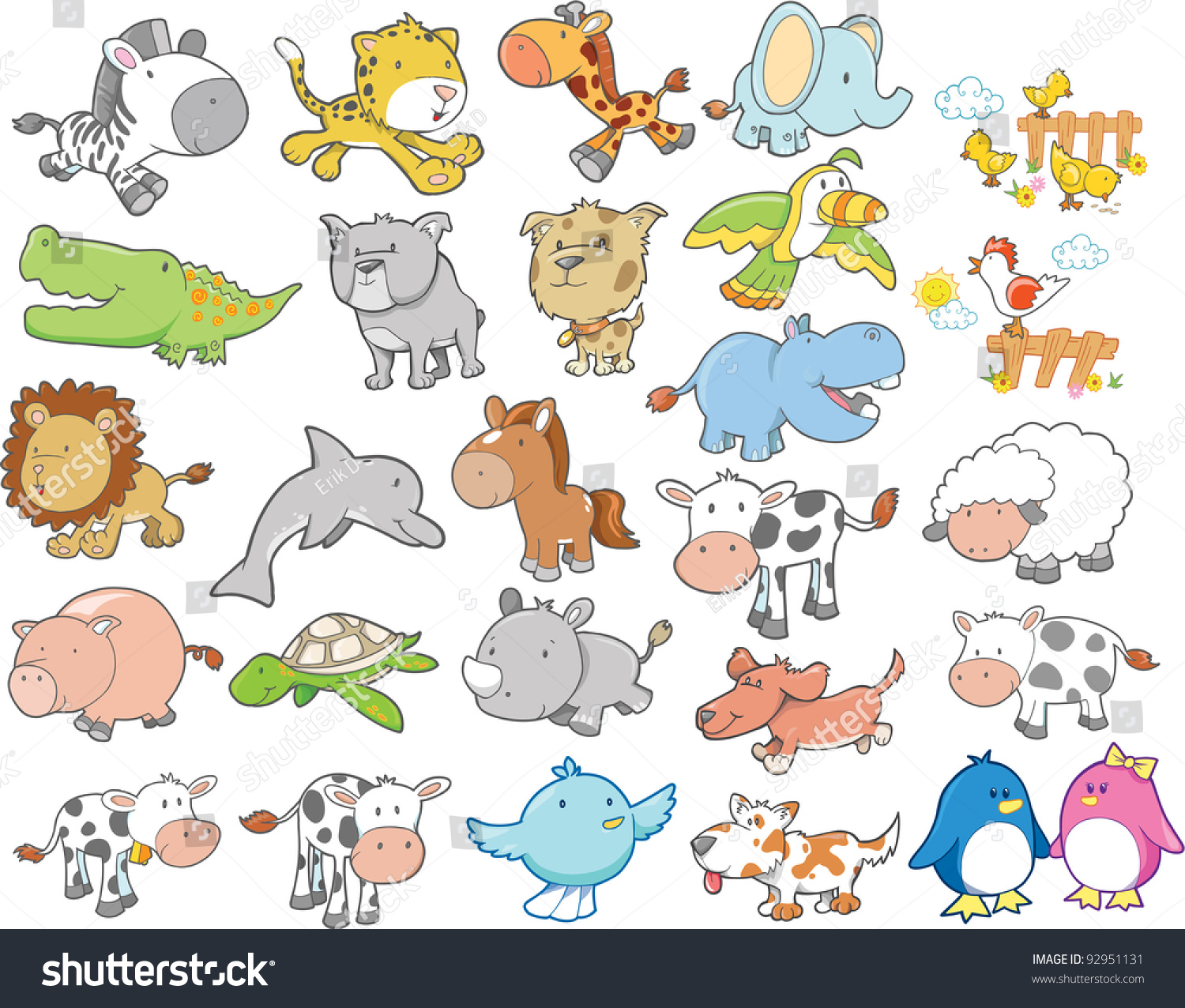 animals pictures and names pdf