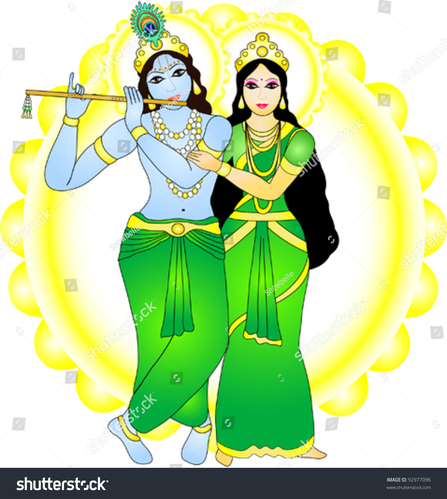 New Radha Krishna Wall Decor Decal Art Wallpapers for free download