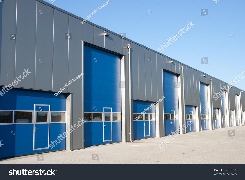 industrial unit with roller shutter doors