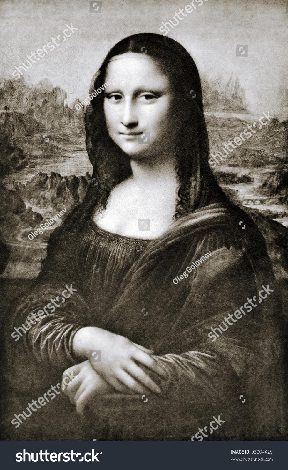 "Leonardo da Vinci (1452 - 1519) ""Mona Lisa"" La Gioconda. Reproduction from illustrated Encyclopedia ""Treasures of art"", Partnership «Prosvesheniye», St. Petersburg , Russia , 1906"