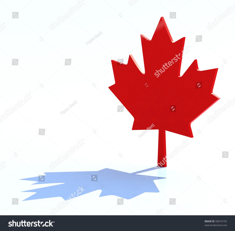 3 D Maple Leaf Canadian Symbol Stock Illustration 93014155