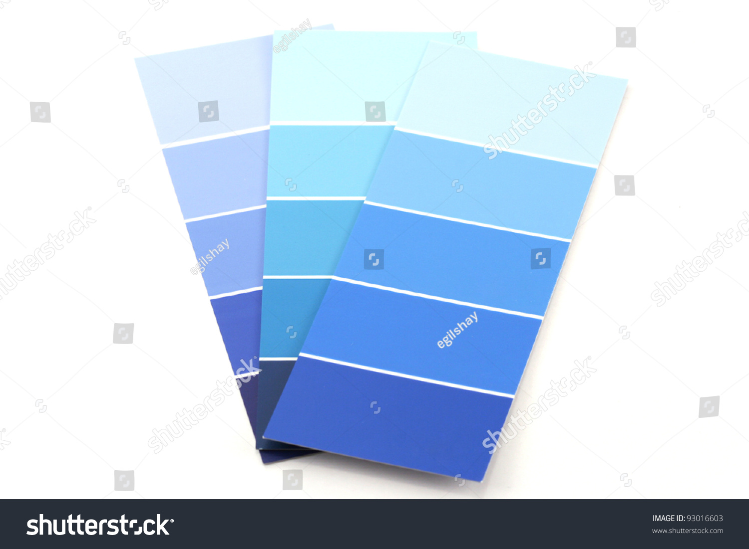 Shades Of Blue Paint Shades Blue Paint Swatches Stock Photo 93016603  Shutterstock